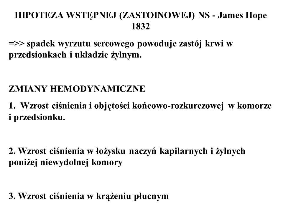 HIPOTEZA WSTĘPNEJ (ZASTOINOWEJ) NS - James Hope 1832