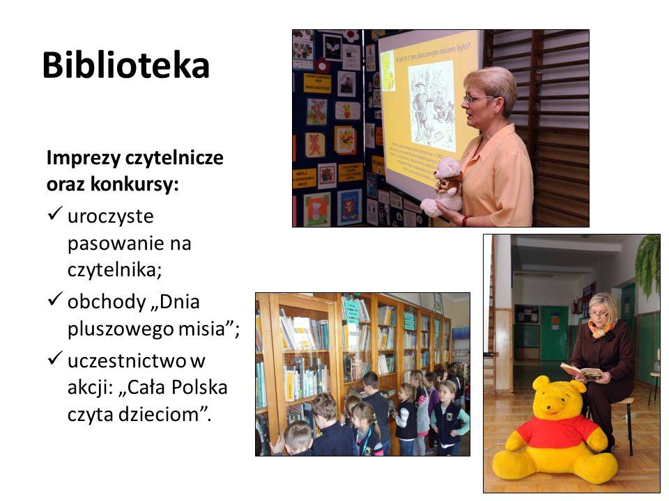Biblioteka Imprezy czytelnicze oraz konkursy: