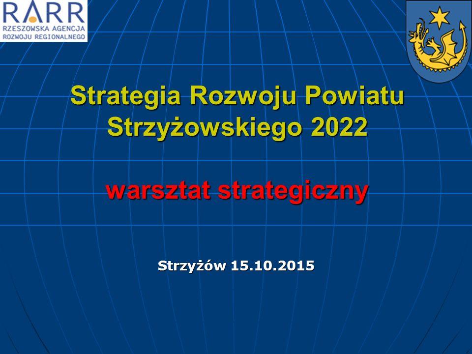 Strategia Rozwoju Powiatu Strzyżowskiego 2022 warsztat strategiczny