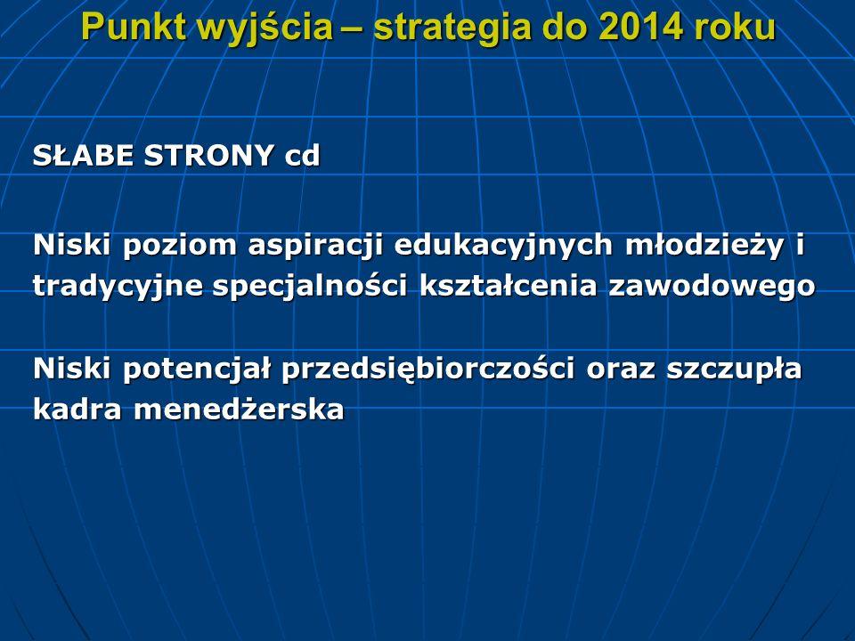 Punkt wyjścia – strategia do 2014 roku