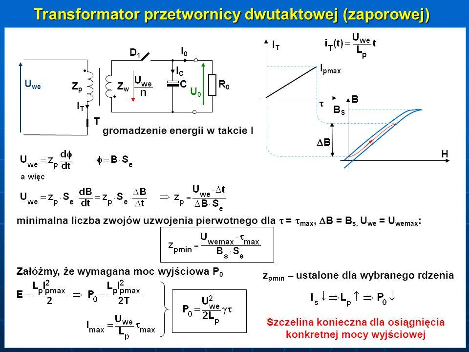 Transformator przetwornicy dwutaktowej (zaporowej)