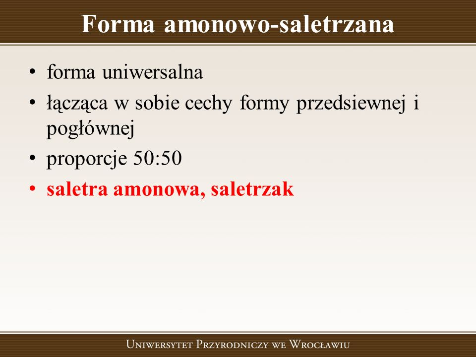 Forma amonowo-saletrzana