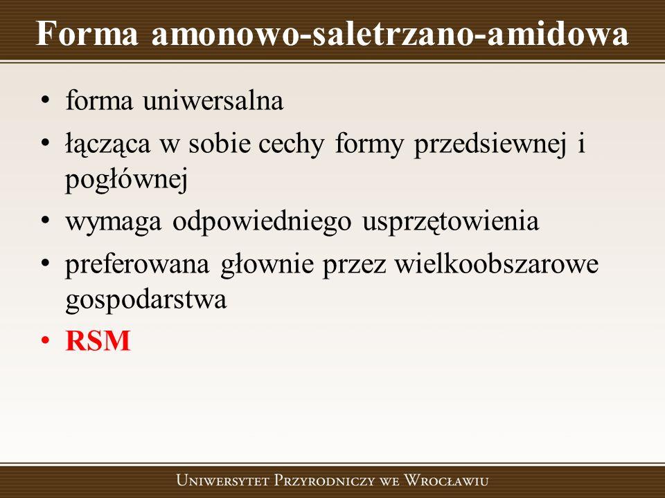 Forma amonowo-saletrzano-amidowa