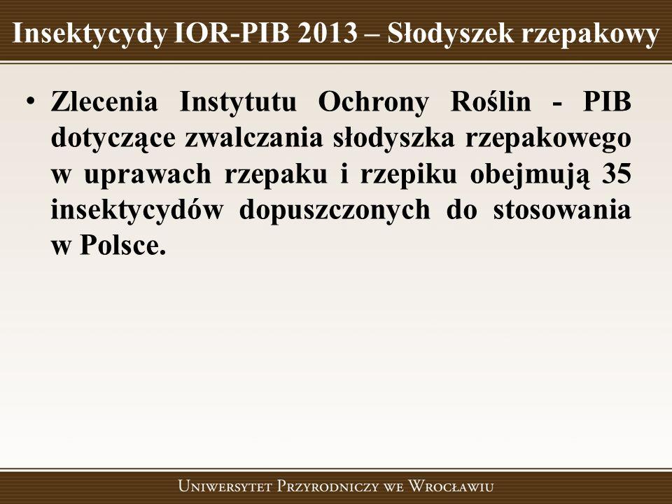 Insektycydy IOR-PIB 2013 – Słodyszek rzepakowy