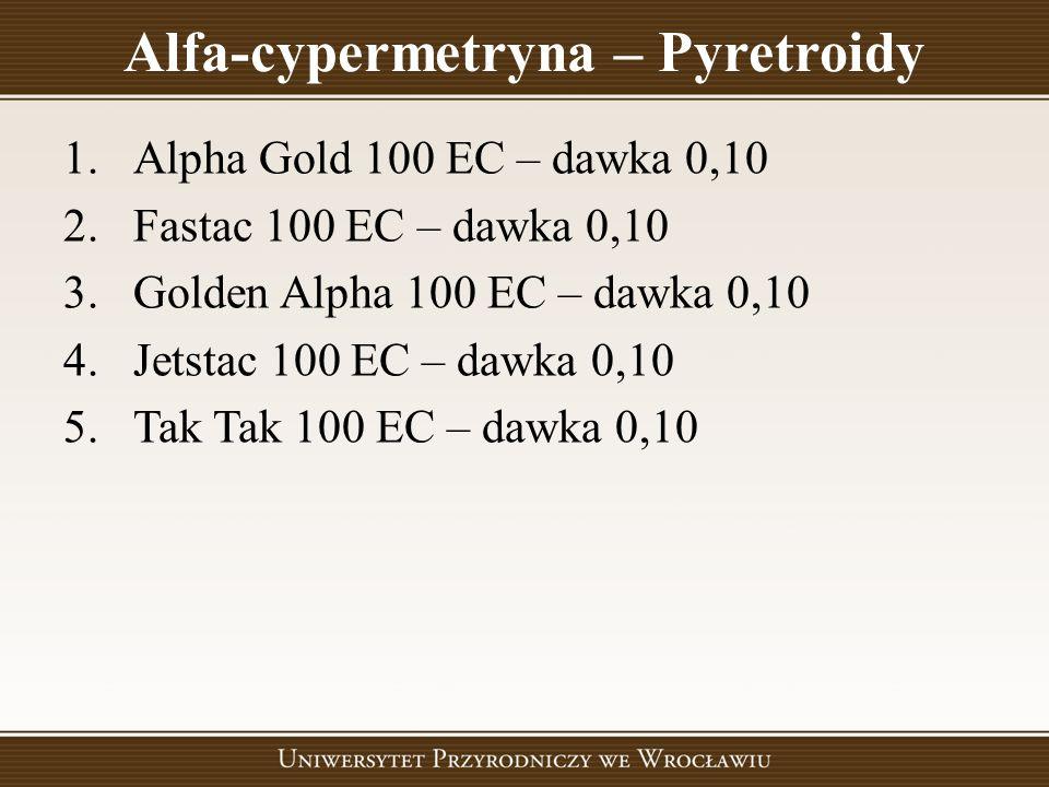 Alfa-cypermetryna – Pyretroidy