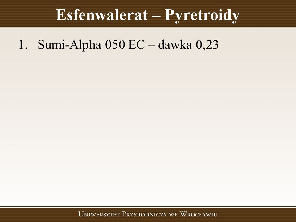 Esfenwalerat – Pyretroidy