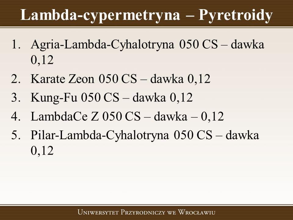 Lambda-cypermetryna – Pyretroidy