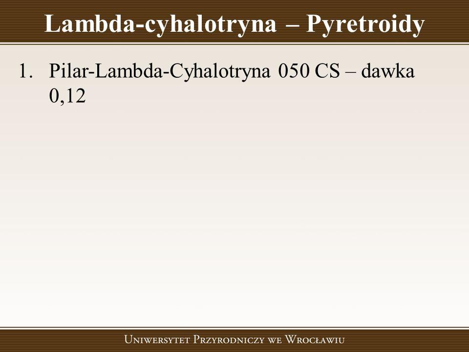 Lambda-cyhalotryna – Pyretroidy