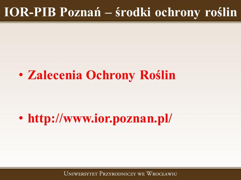 IOR-PIB Poznań – środki ochrony roślin