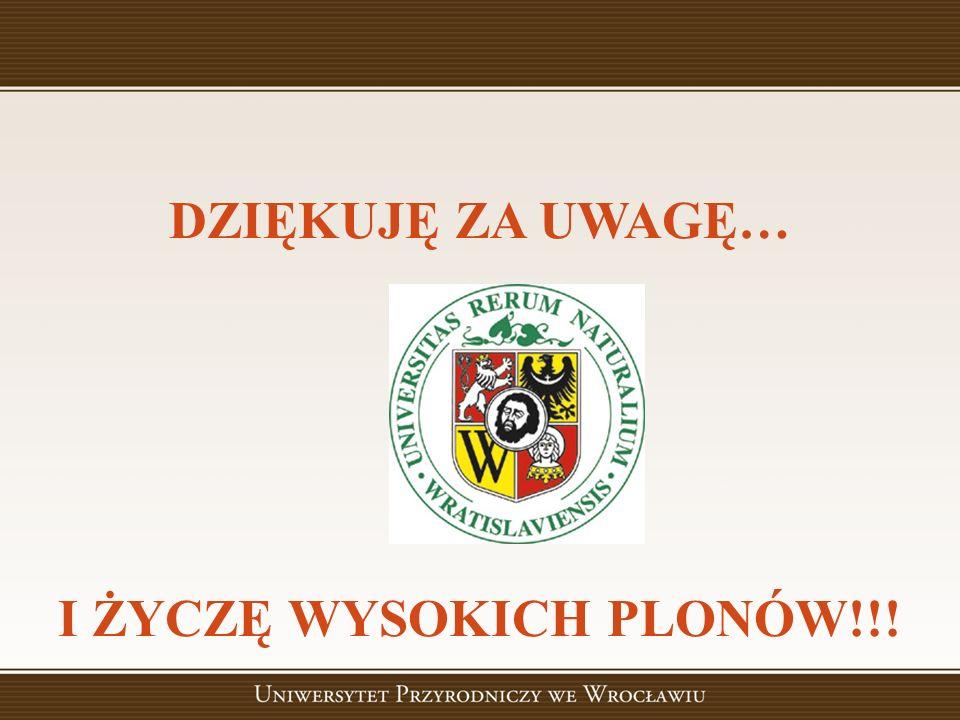 I ŻYCZĘ WYSOKICH PLONÓW!!!