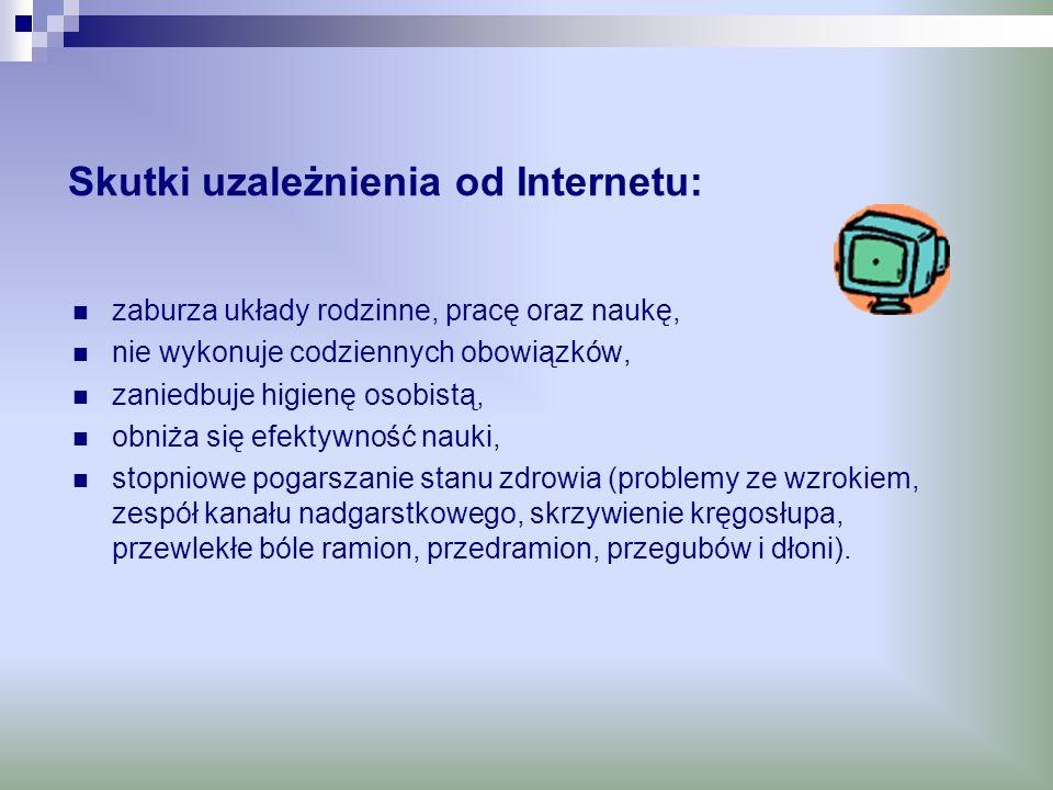 Skutki uzależnienia od Internetu: