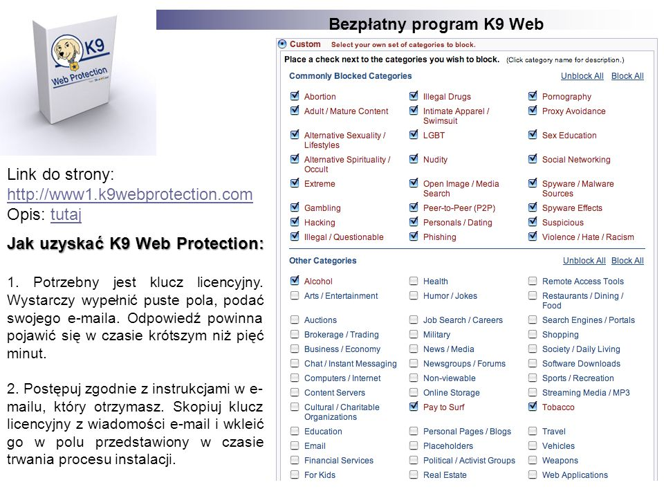 Bezpłatny program K9 Web Protection
