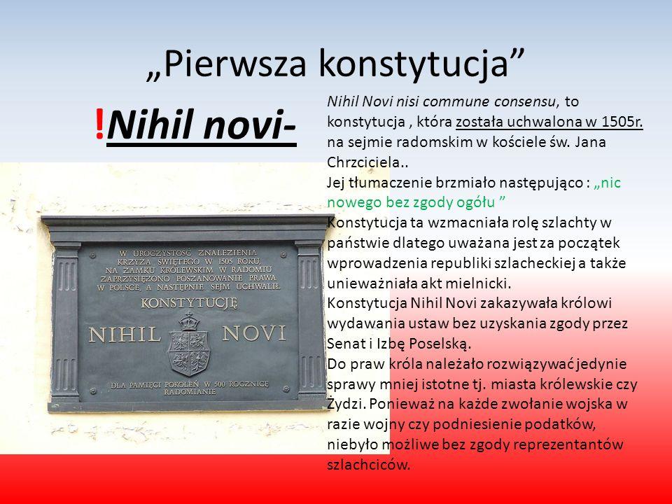 """""""Pierwsza konstytucja"""