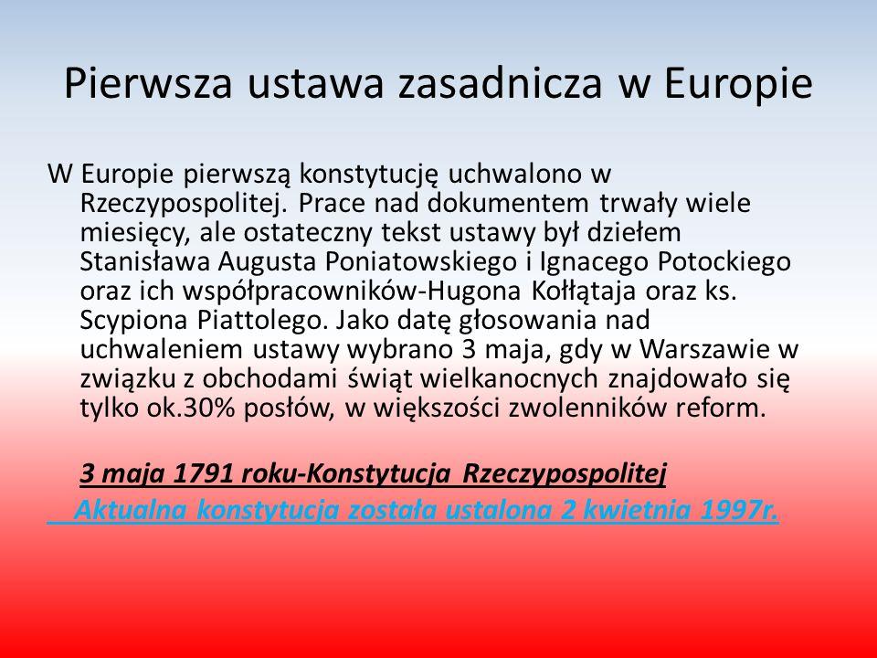 Pierwsza ustawa zasadnicza w Europie