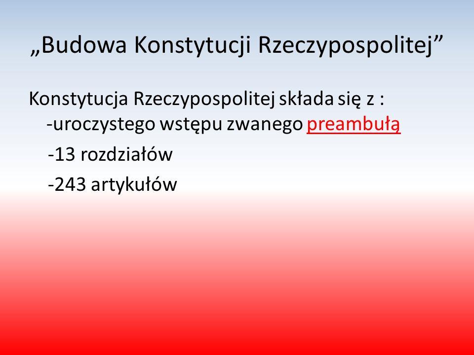 """""""Budowa Konstytucji Rzeczypospolitej"""