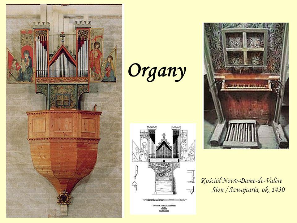 Organy Kościół Notre-Dame-de-Valère Sion / Szwajcaria, ok. 1430