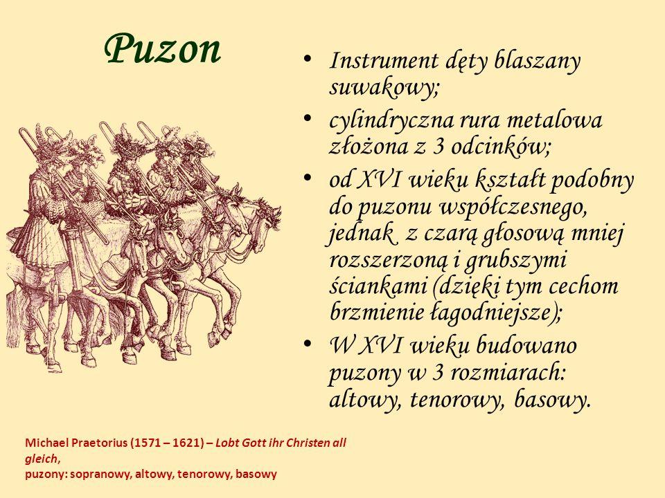 Puzon Instrument dęty blaszany suwakowy;