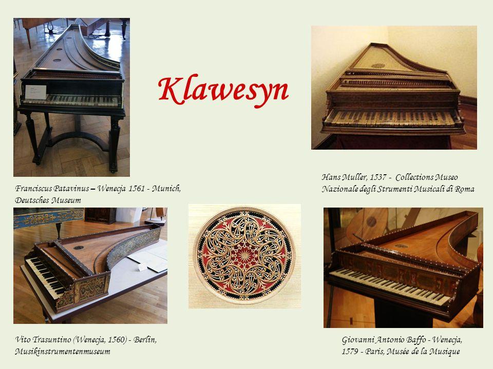 Klawesyn Hans Muller, 1537 - Collections Museo Nazionale degli Strumenti Musicali di Roma.