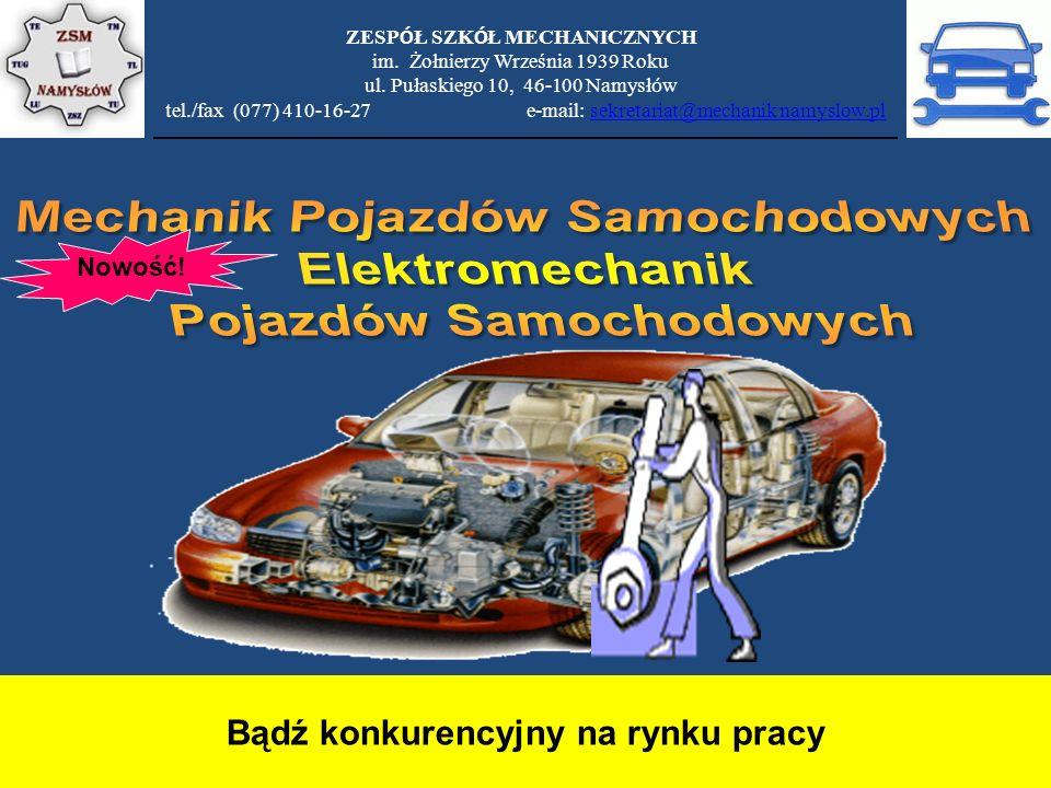 Mechanik Pojazdów Samochodowych Elektromechanik Pojazdów Samochodowych