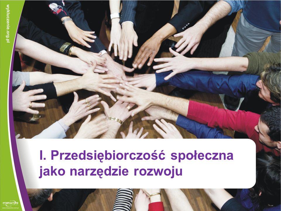 I. Przedsiębiorczość społeczna jako narzędzie rozwoju