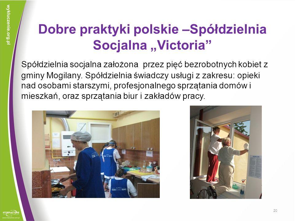 """Dobre praktyki polskie –Spółdzielnia Socjalna """"Victoria"""