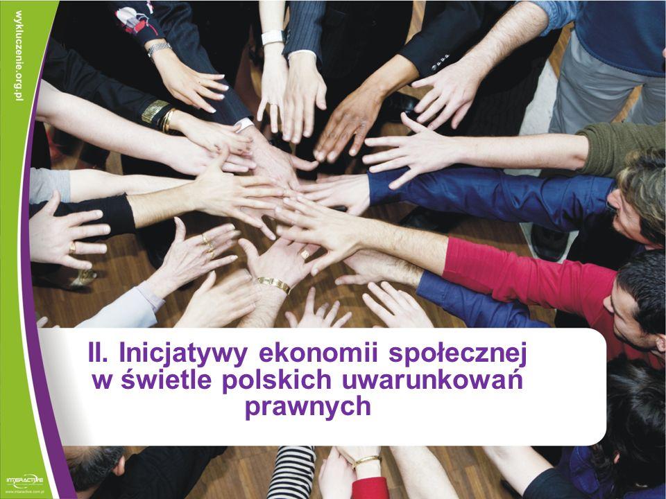 II. Inicjatywy ekonomii społecznej w świetle polskich uwarunkowań prawnych