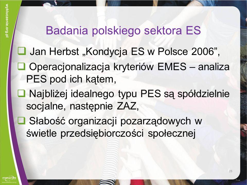 Badania polskiego sektora ES
