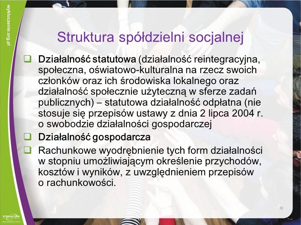 Struktura spółdzielni socjalnej
