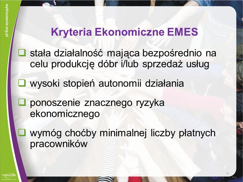 Kryteria Ekonomiczne EMES