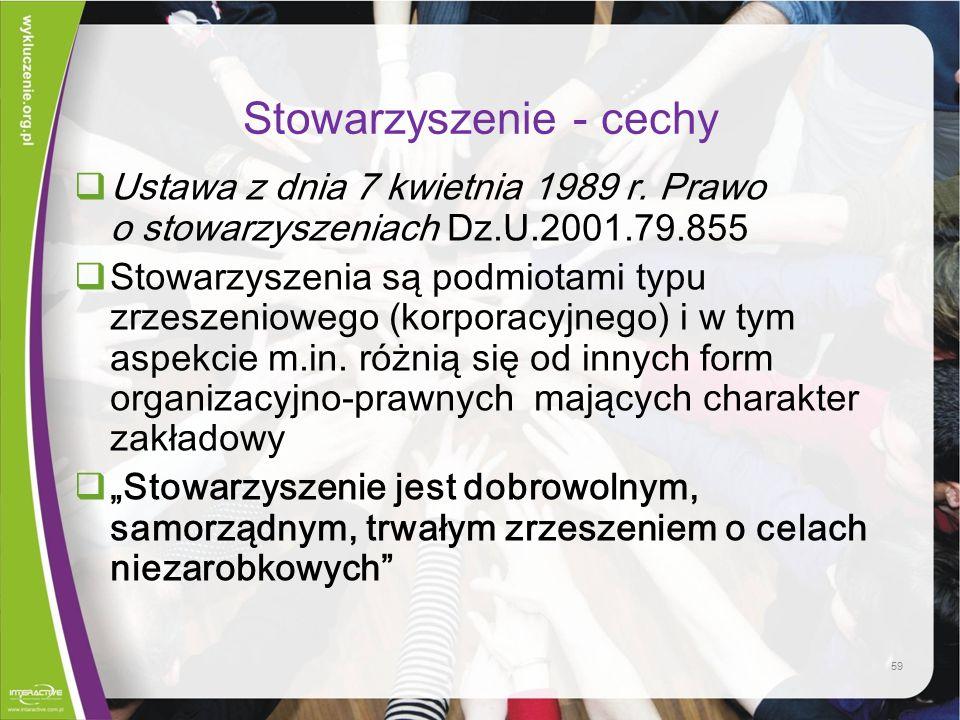 Stowarzyszenie - cechy