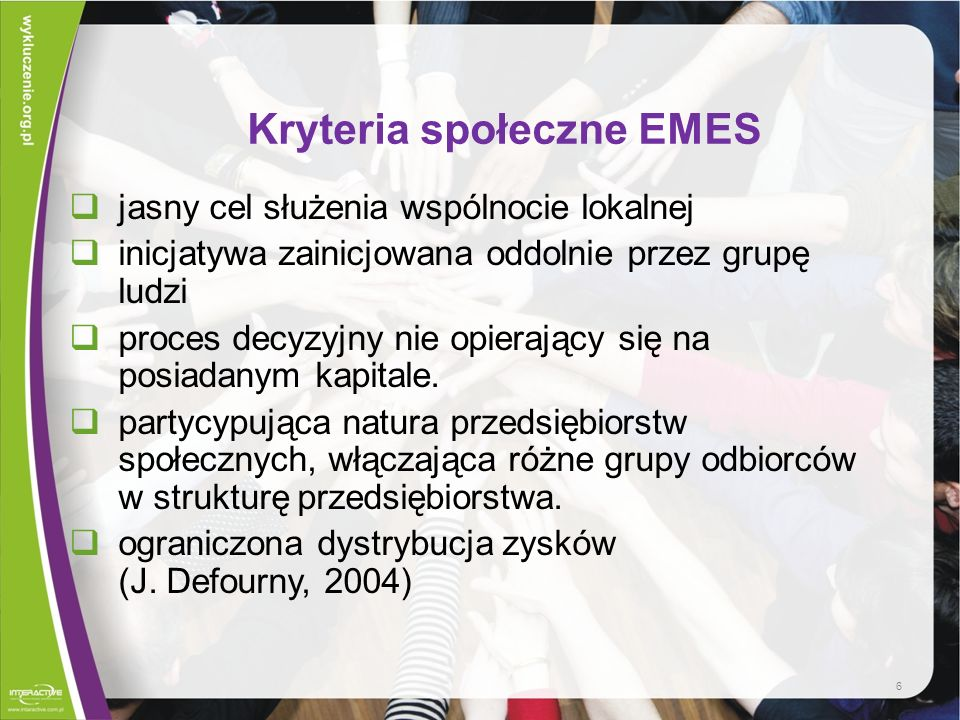 Kryteria społeczne EMES