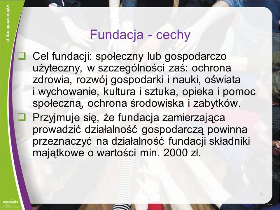 Fundacja - cechy