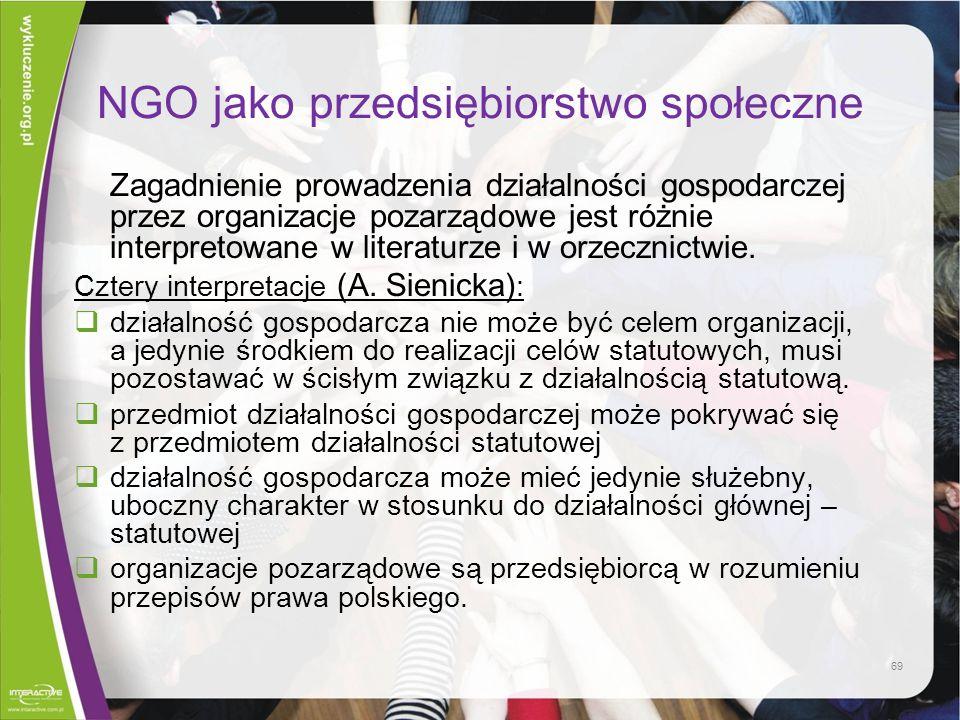 NGO jako przedsiębiorstwo społeczne