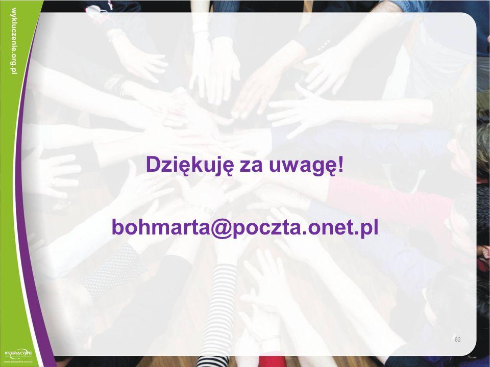 Dziękuję za uwagę! bohmarta@poczta.onet.pl