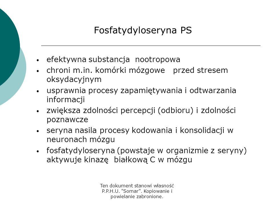 Fosfatydyloseryna PS efektywna substancja nootropowa