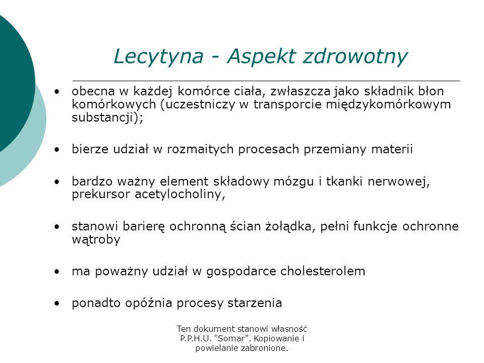 Lecytyna - Aspekt zdrowotny
