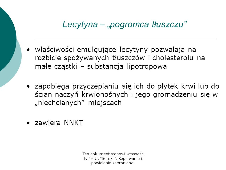 """Lecytyna – """"pogromca tłuszczu"""