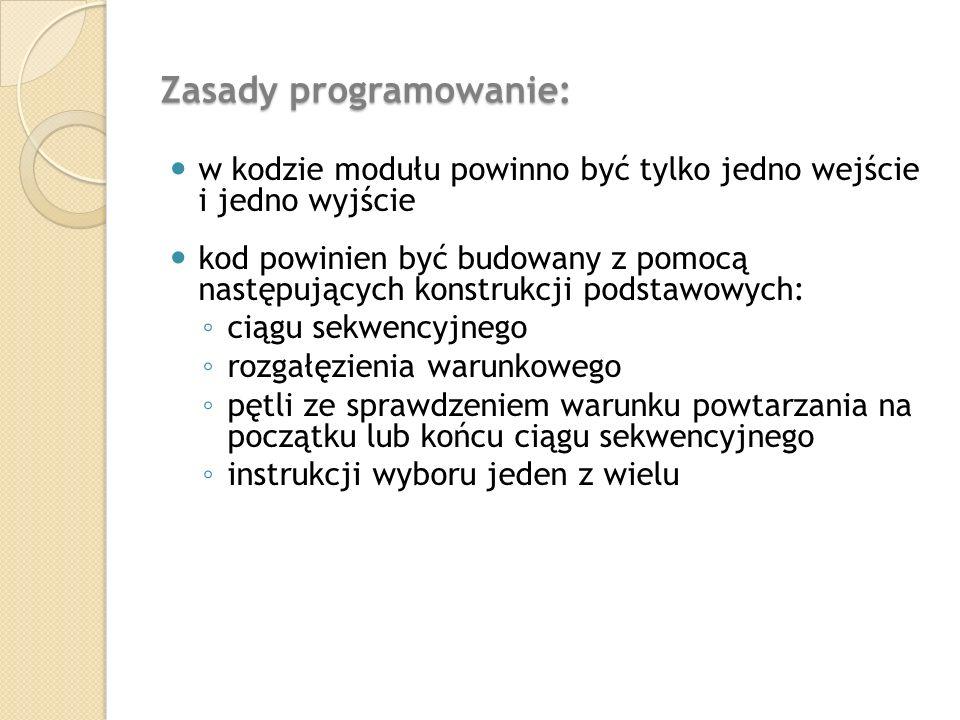 Zasady programowanie: