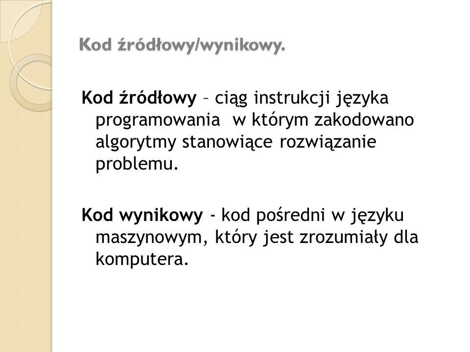 Kod źródłowy/wynikowy.