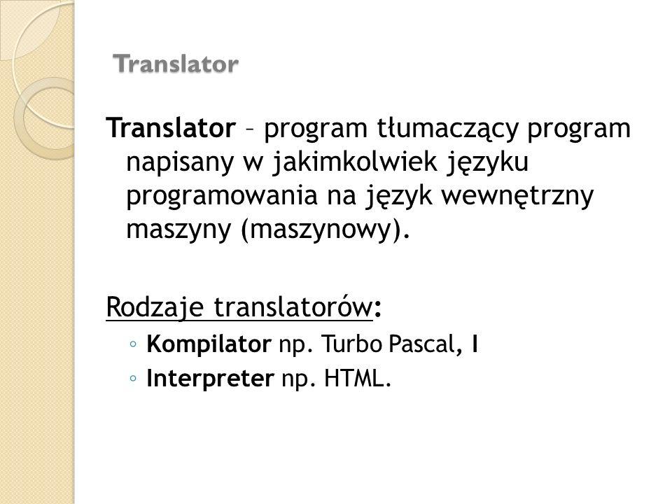 Rodzaje translatorów: