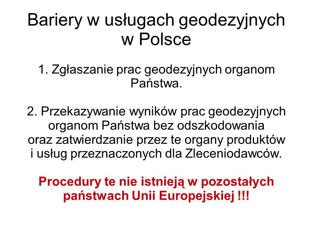Bariery w usługach geodezyjnych w Polsce