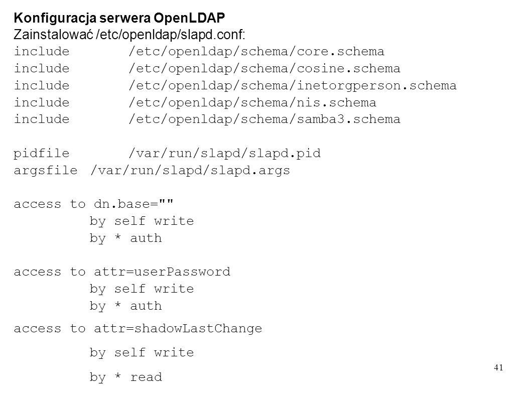 Konfiguracja serwera OpenLDAP