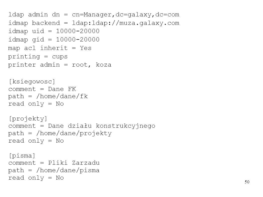 ldap admin dn = cn=Manager,dc=galaxy,dc=com