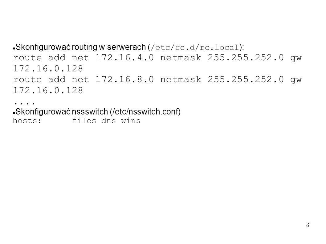 route add net 172.16.4.0 netmask 255.255.252.0 gw 172.16.0.128