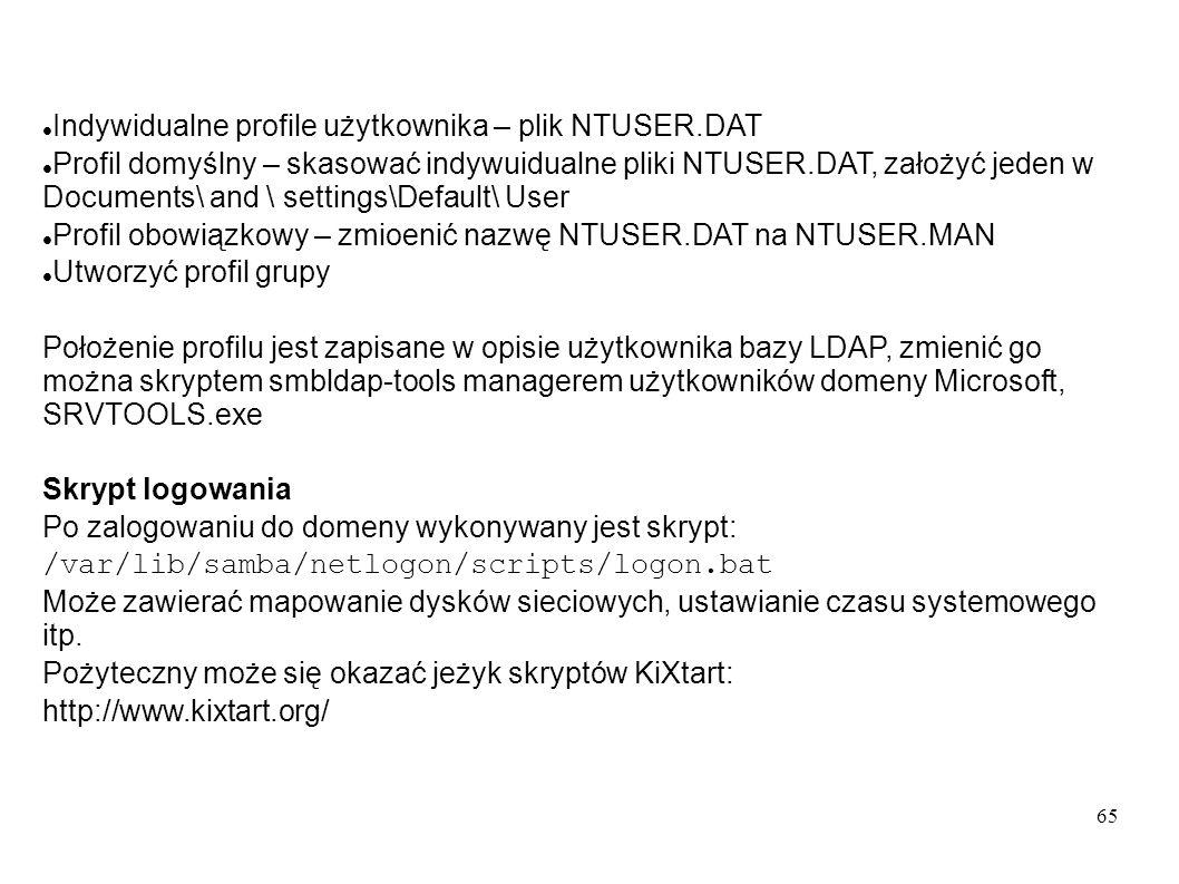 Indywidualne profile użytkownika – plik NTUSER.DAT