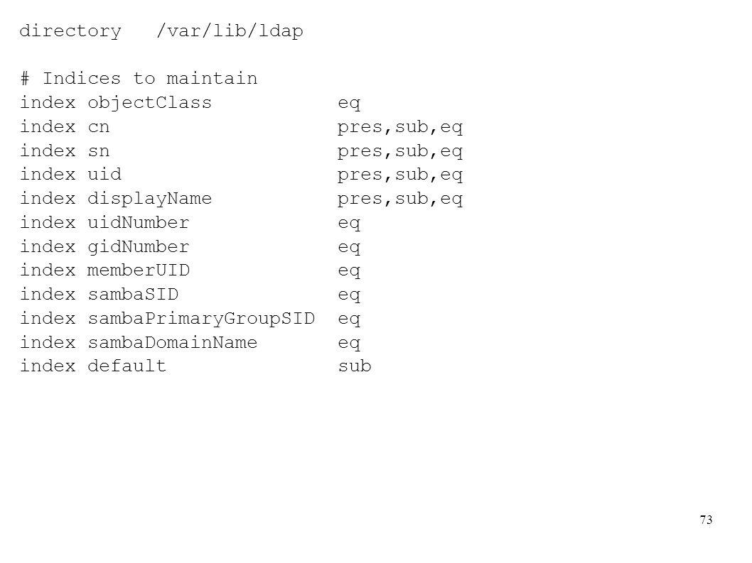 directory /var/lib/ldap