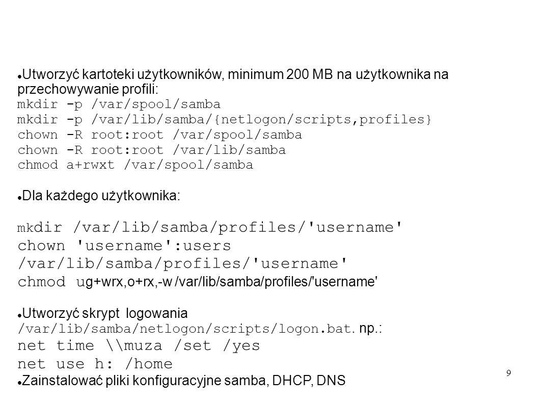 chown username :users /var/lib/samba/profiles/ username