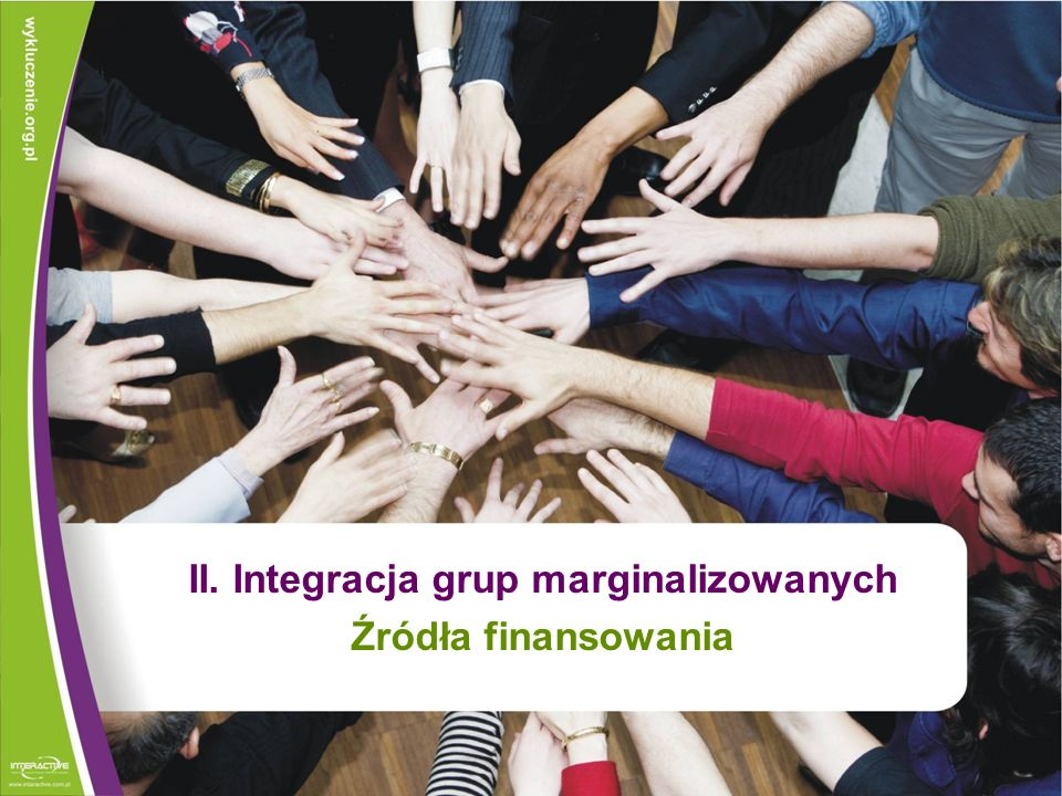 II. Integracja grup marginalizowanych