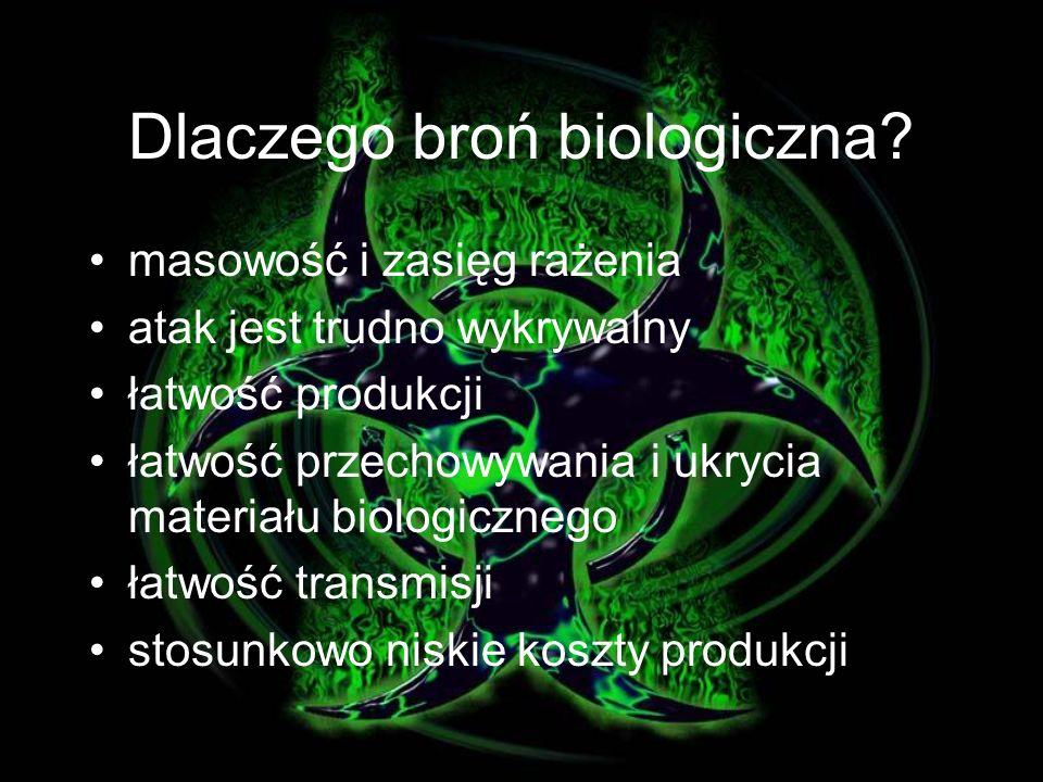 Dlaczego broń biologiczna