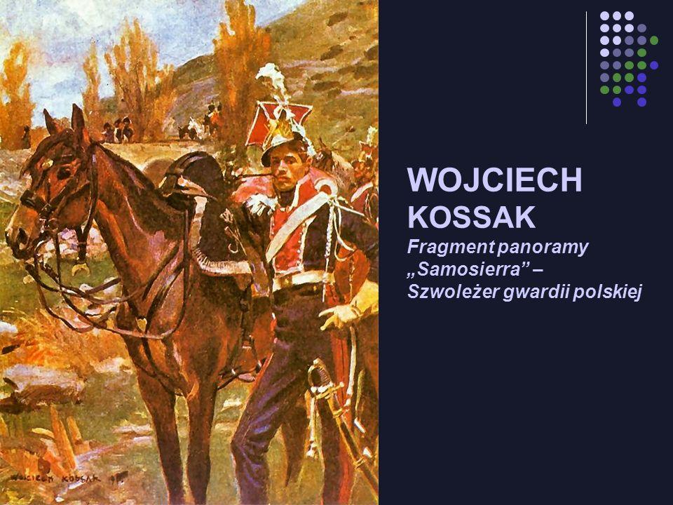 """WOJCIECH KOSSAK Fragment panoramy """"Samosierra – Szwoleżer gwardii polskiej"""